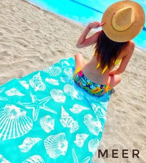 Shell Beach Towel (シェル柄ビ-チタオル)