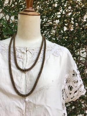 イギリス 真鍮製 ブラス製 ロングネックレス ネックレス