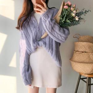 【トップス】ソリッドカラーファッションニット・セーター22700120