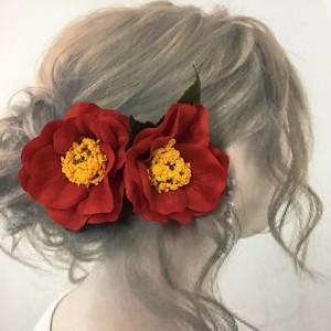 赤椿  髪飾り
