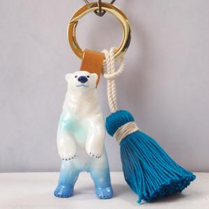 【Bag charm】北の空を纏うシロクマ