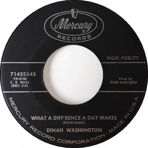 Dinah Washington – What A Diff'rence A Day Makes / Come On Home