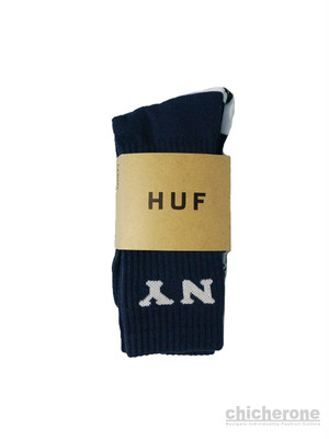 【HUF】  CITIES CREW SOCK -NAVY