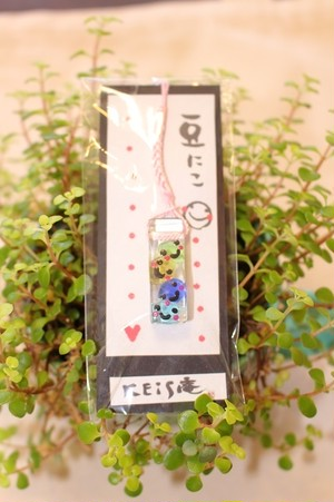 ◆KEiS庵◆ 豆にこストラップ~市松模様~