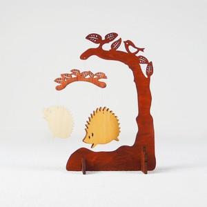 木製卓上モビール「はりねずみ」