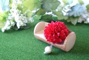 マムの花飾り『red』