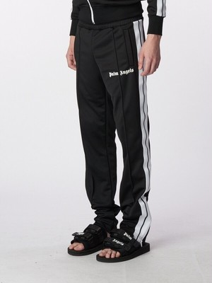 PALM ANGELS SLIM TRUCK TROUSERS BLACK