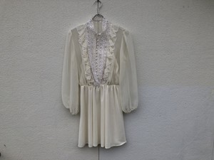 1970s White  Lace Tunic