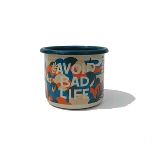 "Good life coffee ""avoid bad life"" light mug"