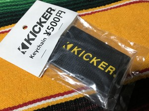【KICKER】keychain (black)