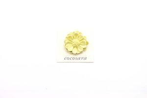 有田焼ブローチ 立体花 (金彩無し)1