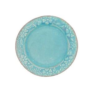 益子焼 わかさま陶芸 「ガーデン」 プレート 皿 S 約15cm ターコイズ 256180
