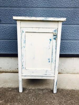 品番0617 チェスト ホワイト 棚 机 アンティーク