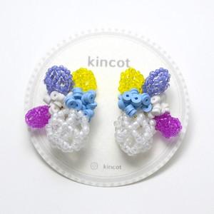 kincot メッシュデザインイヤリング(ビビッド)