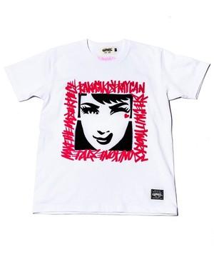 [予約商品]RAKUGAKI GIRL STENCIL T-Shirts White
