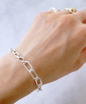 【ISOLATION / アイソレーション】SV925 Mix Chain Bracelet