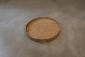 円居という名の木の器 φ210皿 胡桃