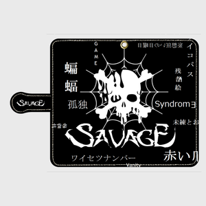 SAVAGE 鏡付き手帳型Androidケース