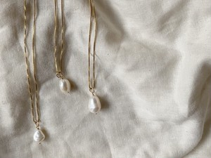baroque pearl long necklace(M)