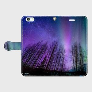 (iPhone6Plus/6sPlus)手帳タイプ:オーロラ(KAGAYA)