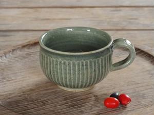 藍媚茶釉 ティーカップ(鎬)