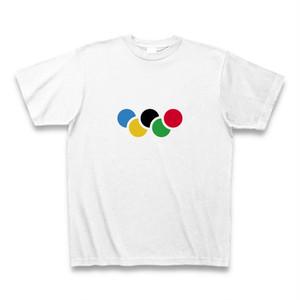オリンピックの五輪っぽい配色Tシャツ