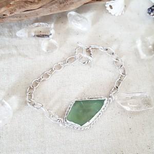 【silver925】seaglass chain bracelet