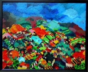 油彩画*秋の山* 2015