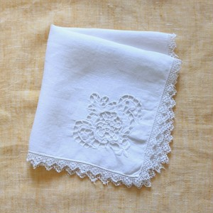 Vintage Embroidered Handkerchief 008・ヴィンテージ 刺繍ハンカチ 008  U.S.A