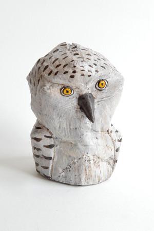 ダンボール彫刻 ちいさいシリーズ シロフクロウ C692