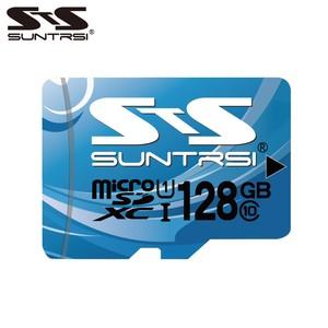 suntrsi microSDXCカード ブルー 128GB Class10 UHS-I U1 60MB/s