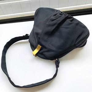 ヴィンテージ ブラック がま口 ハンドバッグ