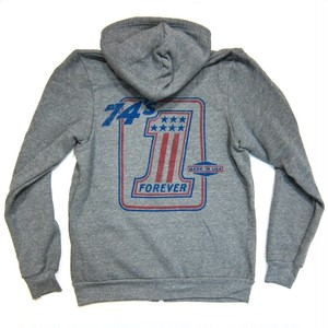 Lawrence Vintage Cycle 74's Foerever #1 Logo Full-Zip Hoodie,S&P