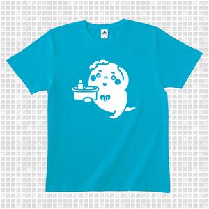 ゆっポくんTシャツ ターコイズ