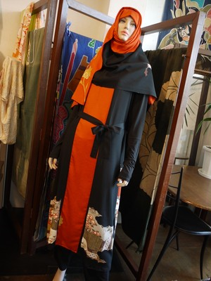 留袖ロングジャンパースカート&ヒジャブ  Long Jumper dress&Hijab