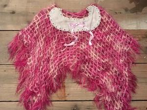 リメイク 毛糸のポンチョ