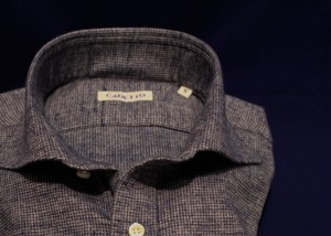 CADETTO ORIGINALS SHIRTS Waffle Fabric Fade-navy