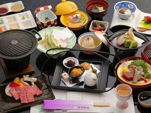 【日帰り夕食ペア招待券】お部屋食「神戸牛ステーキ会席&ご入浴」