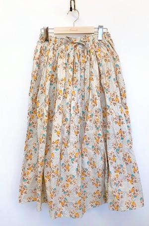 フラワープリントギャザースカート