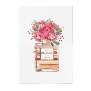 perfume illustration fabric poster F 3size / シャネル ブランド イラスト ファブリックポスター 韓国