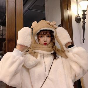 【ファッション小物】秋冬スエードスエード生地キュート切り替え帽子