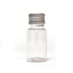 プラスチックアルミキャップ中栓付ボトル(クリア) 30ml