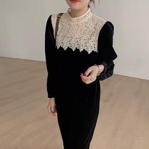 monotone vintage dress