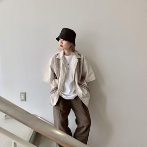 【即納】韓国ファッション チロリアンシャツ