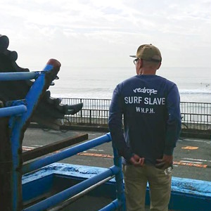 【SURF SLAVE L/S TEE】vintage navy