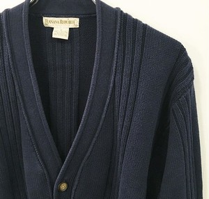 BANANA REPUBLIC : cotton knit cable cardigan (used)