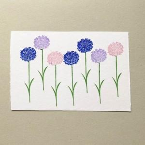 postcard (cornflower 矢車菊)