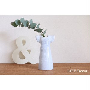 ドレス花瓶・ライトブルー/北欧(リサ・ラーソン)