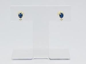 K18 ブルーサファイアピアス ○