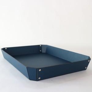 concrete craft 8_TRAY Lサイズ ネイビー( W27 × D35.5 × H4.5cm )パスコ トレー ステーショナリー 機能性 収納雑貨 スタッキング